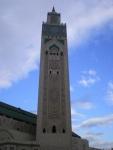 The minaret of Hassan II mosque